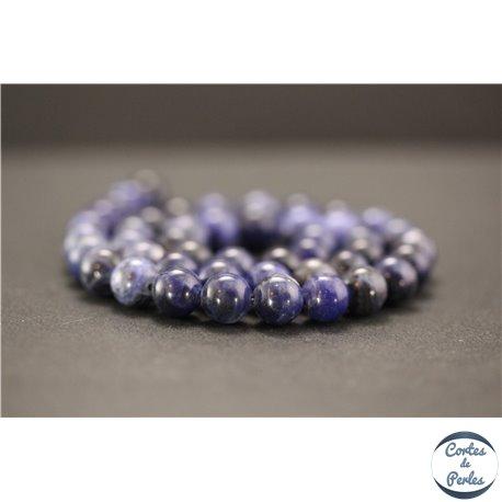 Perles en sodalite d'Afrique du Sud - Rondes/8mm - Grade A+