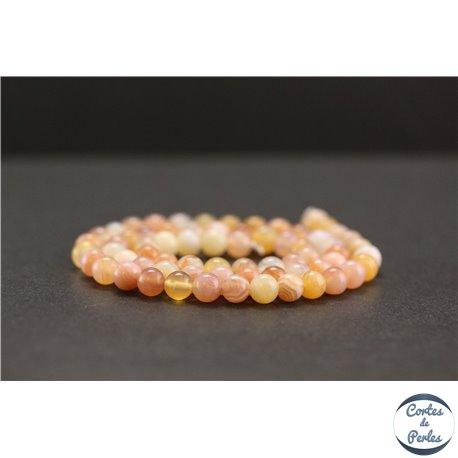 Perles en agate du Botswana - Rondes/6mm - Grade A