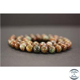 Perles en jade quartzeux - Rondes/8mm - Grade A