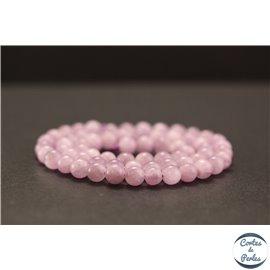 Perles en kunzite - Rondes/6mm - Grade AA+
