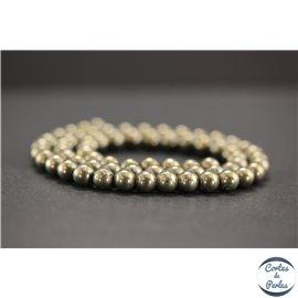 Perles en pyrite - Rondes/6mm - Grade A+