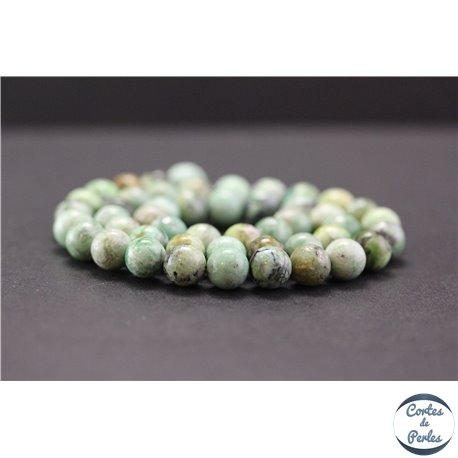 Perles en variscite du Brésil - Rondes/8mm - Grade A+
