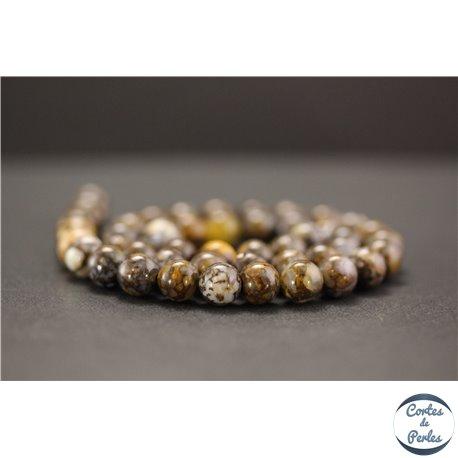 Perles en opale marron d'Afrique - Rondes/8mm - Grade AB