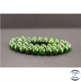 Perles en diopside de Russie - Rondes/8mm - Grade AB+
