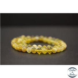 Perles en opale jaune d'Afrique - Rondes/6mm - Grade AB
