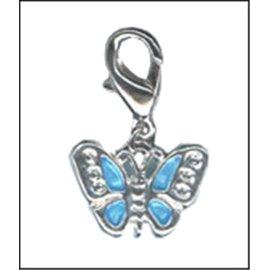 Apprêts Charmes - Papillon/14 mm - Bleu