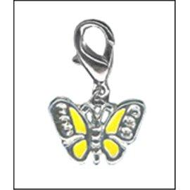 Apprêts charmes - Papillons/14 mm - Jaune