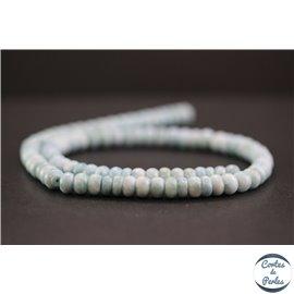 Perles en larimar de République Dominicaine - Roues/6mm - Grade A