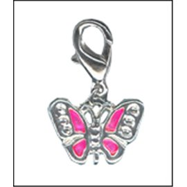 Apprêts charmes - Papillons/14 mm - Rose