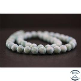 Perles en larimar de République Dominicaine - Rondes/8mm - Grade A