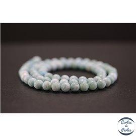 Perles en larimar de République Dominicaine - Rondes/6mm - Grade A