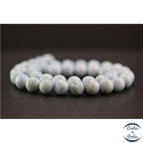 Perles en larimar de République Dominicaine - Rondes/10mm - Grade A