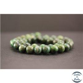 Perles en jade west Africa - Rondes/10mm