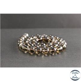 Perles en quartz fumé du Brésil - Rondes/10mm - Grade A