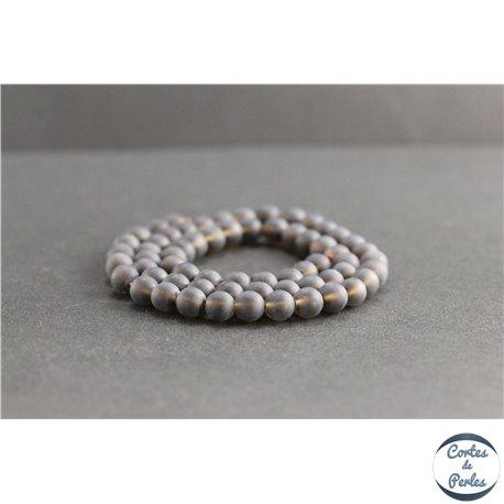 Perles dépolies en quartz fumé du Brésil - Rondes/6mm - Grade A