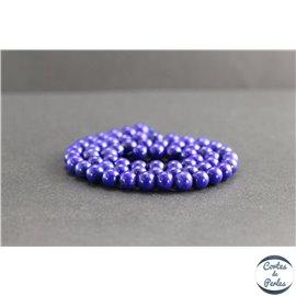 Perles en lapis lazuli d'Afghanistan - Rondes/6mm - Grade AA