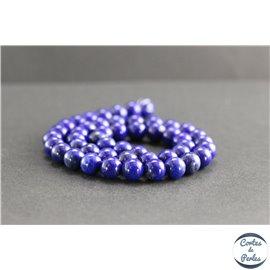 Perles en lapis lazuli d'Afghanistan - Rondes/8mm - Grade AA