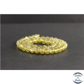 Perles en apatite jaune de Madagascar - Rondes/6mm - Grade AA
