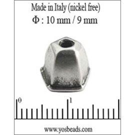 Apprêts Coupelles qualité premium - 10 mm - Argenté