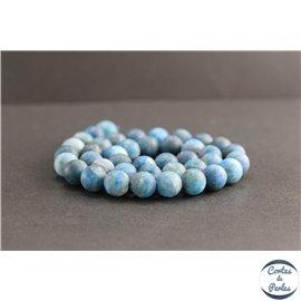 Perles dépolies en apatite de Madagascar - Rondes/10mm - Grade A