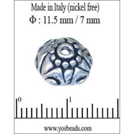 Apprêts Coupelles qualité premium - 11,5 mm - Argenté