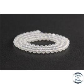Perles en aragonite d'Afrique - Rondes/4mm - Grade A