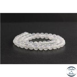 Perles en aragonite d'Afrique - Rondes/6mm - Grade A