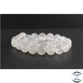 Perles en aragonite d'Afrique - Rondes/12mm - Grade A