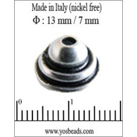 Apprêts Coupelles qualité premium - 13 mm - Argenté