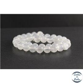Perles en aragonite d'Afrique - Rondes/10mm - Grade A