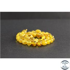 Perles en ambre miel de la Baltique - Nuggets/8mm - Grade A