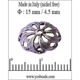 Apprêts Coupelles qualité premium - 15 mm - Argenté