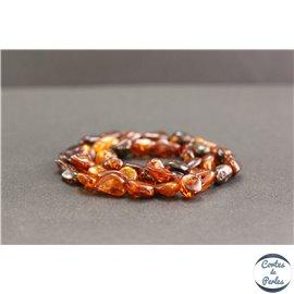 Perles en ambre cognac foncé de la Baltique - Chips/8mm - Grade AB