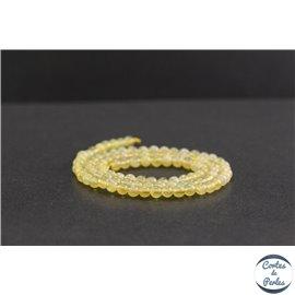 Perles en opale jaune d'Afrique - Rondes/4mm - Grade A+