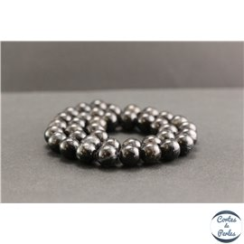 Perles en astrophyllite de Russie - Rondes/10mm - Grade A+