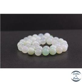 Perles en opale verte d'Afrique - Rondes/10mm - Grade AA