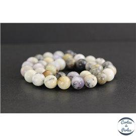 Perles en opale blanche d'Afrique - Rondes/10mm - Grade AB