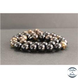 Perles en biotite - Rondes/12mm - Grade A