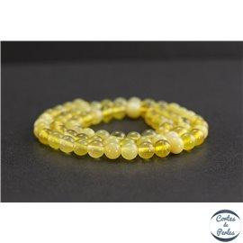 Perles en opale jaune d'Afrique - Rondes/6mm - Grade A+