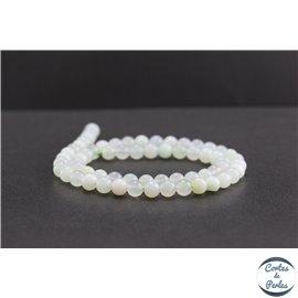 Perles en opale verte d'Afrique - Rondes/6mm - Grade AA