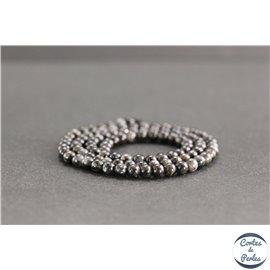 Perles en astrophyllite de Russie - Rondes/4mm - Grade A+