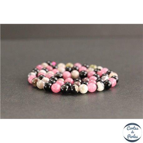 Perles en tourmaline de Madagascar - Rondes/6mm - Grade A+
