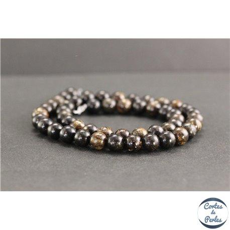 Perles en biotite - Rondes/8mm - Grade A
