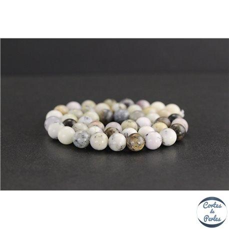 Perles en opale blanche d'Afrique - Rondes/8mm - Grade AB