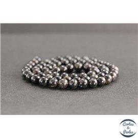 Perles en astrophyllite de Russie - Rondes/6mm - Grade A+