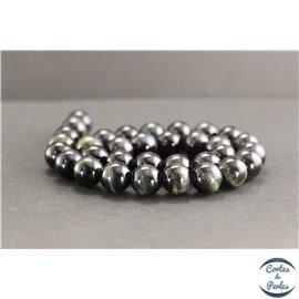 Perles en oeil de faucon - Rondes/12mm - Grade A