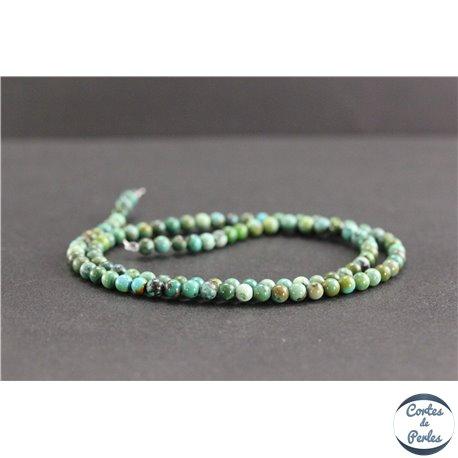 Perles en turquoise HuBei - Rondes/4mm - Grade AB