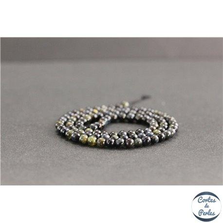 Perles en oeil de faucon - Rondes/4mm - Grade A