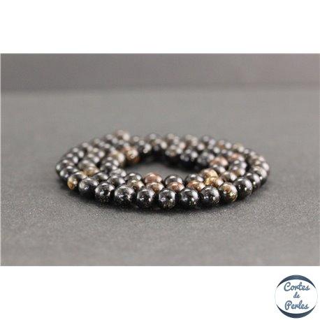 Perles en biotite - Rondes/6mm - Grade A