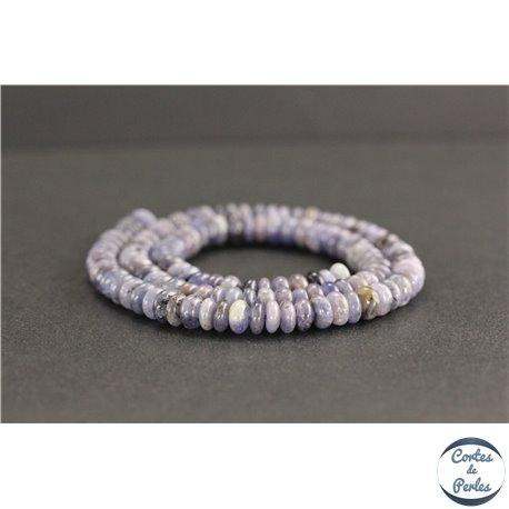 Perles en tanzanite de Tanzanie - Roues/6mm - Grade AB
